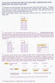 PETUNJUK COPY LAGU MP3 & DELETE LAGU MP3 KE & DARI FLASH DISK