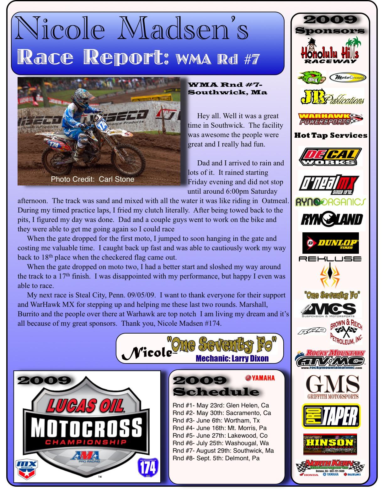Nicole Madsen Race Report
