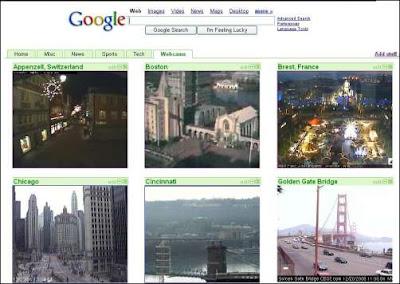 página personalizada con webcams