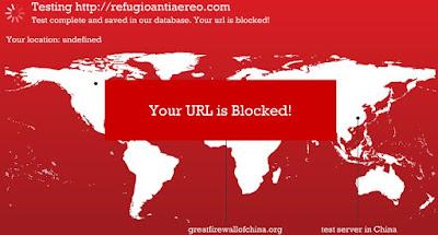 Comprueba si tu web está bloqueada en China