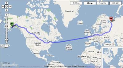 La distancia más larga en Google Maps