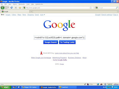 Google Search in Color Interface - Step 2