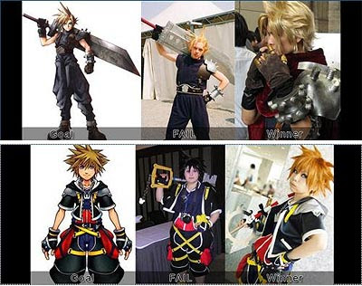 Comparison of cosplay matching style