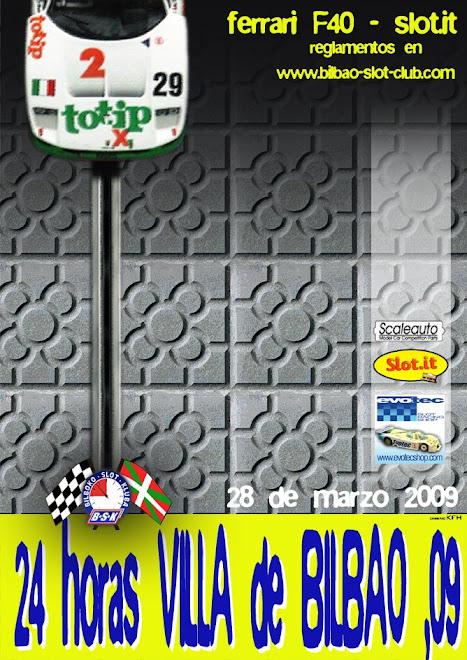cartel 24 horas villa de Bilbao 2009