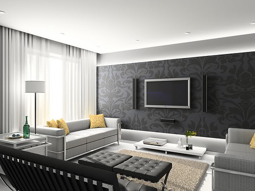Places of Decor: Livingroom - 3D Interior Design