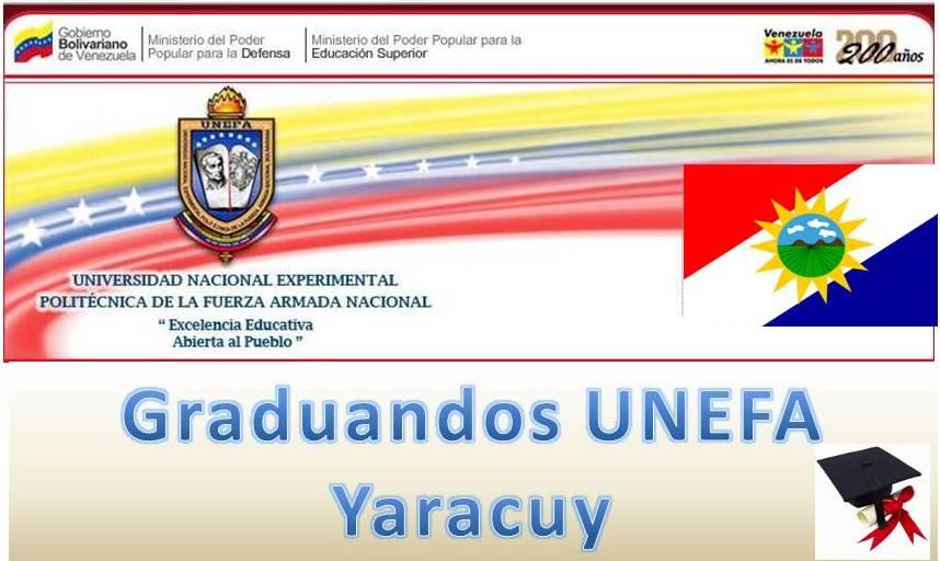 GRADUANDOS UNEFA YARACUY