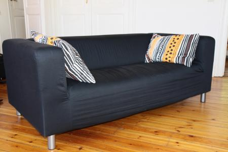 Klippan Sofa 2 Places. Black Easy To Keep Clean; Removable, Machine  Washable Cover. Extra Covers Are Available For Variation And Renewal.