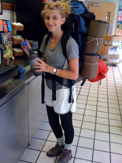 Heres Nikki A Longtime Camper Now CIT Getting Last Drink Of Dining Hall Water Before She And Her Colleagues Leave On Their Long Backpacking Trip