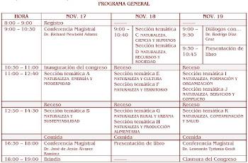 PROGRAMA 1ER CONGRESO NACIONAL NATURALEZA-SOCIEDAD. D   E   S   C   A   R   G   A   R