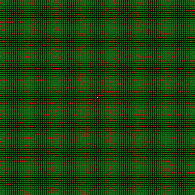 простые числа на плоскости