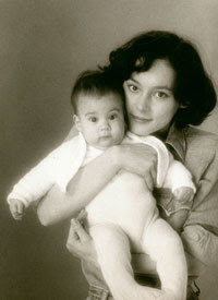 Meg Tilly and her son,...