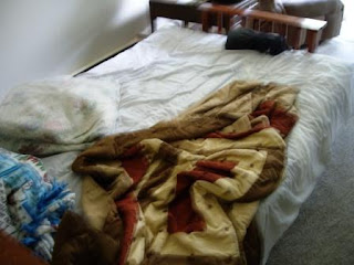 The futon on which Drew slept.