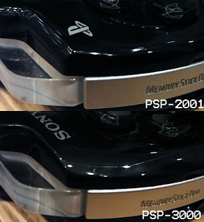 PSP-3000 and PSP-3000 comparison