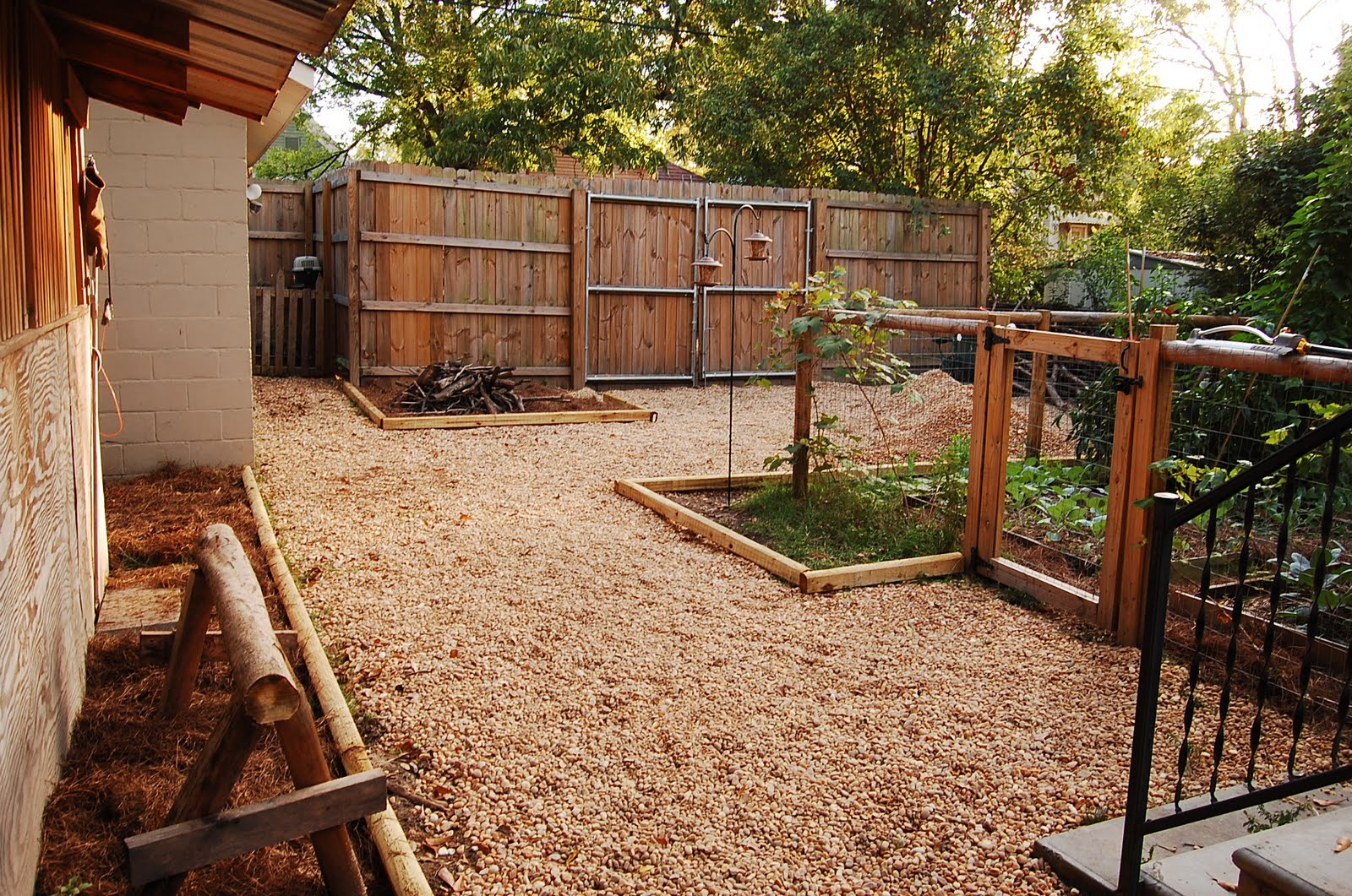 Urban self sufficientist backyard remodel on the cheap for Cheap back garden designs