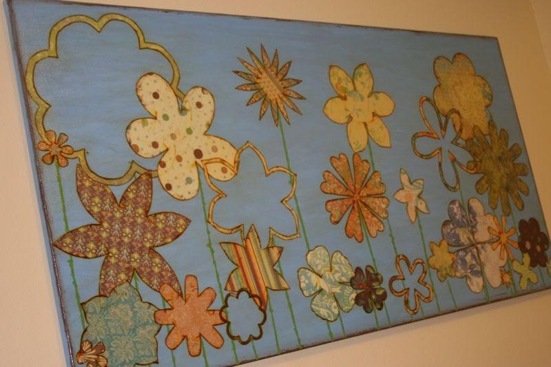 Sunshine and Spilled Milk: Decoupage Wall Art