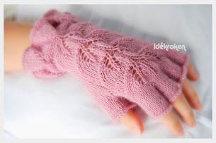 Fingervanter i ull eller bomull ( velg garn og farge)                     kr. 370,- pr. par