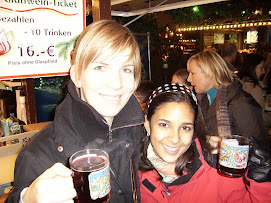 My Host sister and me in Germany drinking hot wine