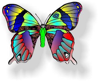 An original butterfly design by Thomas G. Hepburn. Medium used is Corel Draw ver12