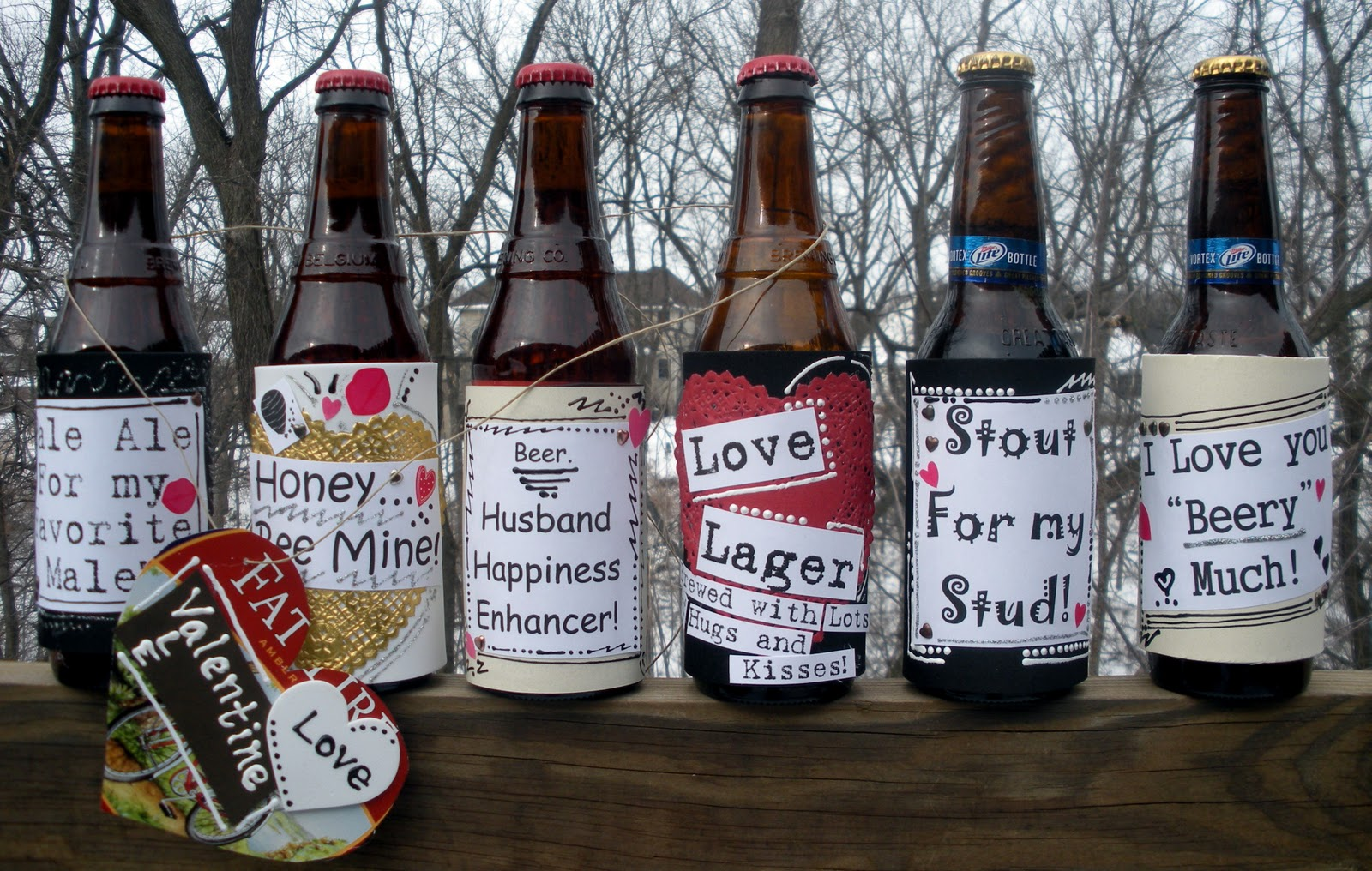Today is just 1 day Valentines Gift Wine Beer Bottle Label /& Chocolate Wrapper