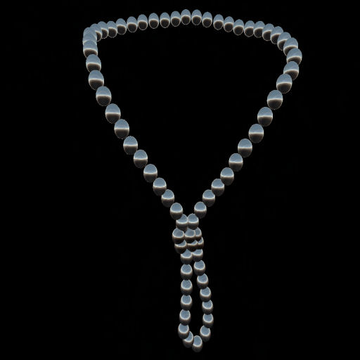 Black Pearl Knot Necklace
