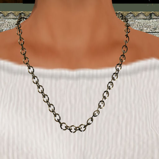 Platinum Single Link Necklace