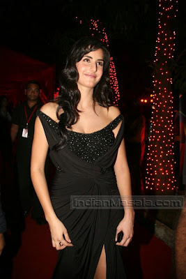 Bollywood Hot Actress Katrina Kaif Pictures In Lovely Black Dress