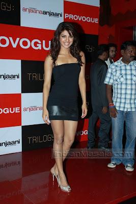 Actress Desi Hot PRIYANKA CHOPRA Masala Pictures in Black Short Dress