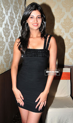 Sexy MASALA HOT ACTRESS Sayali Bhagat Spicy Hot Photos in black Short Dress