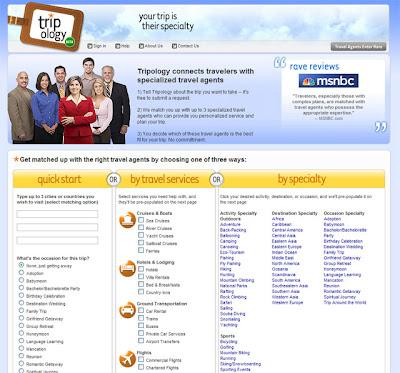 Page d'accueil de Tripology.com