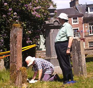 Recording Gravestones at Jedburgh_Abbey