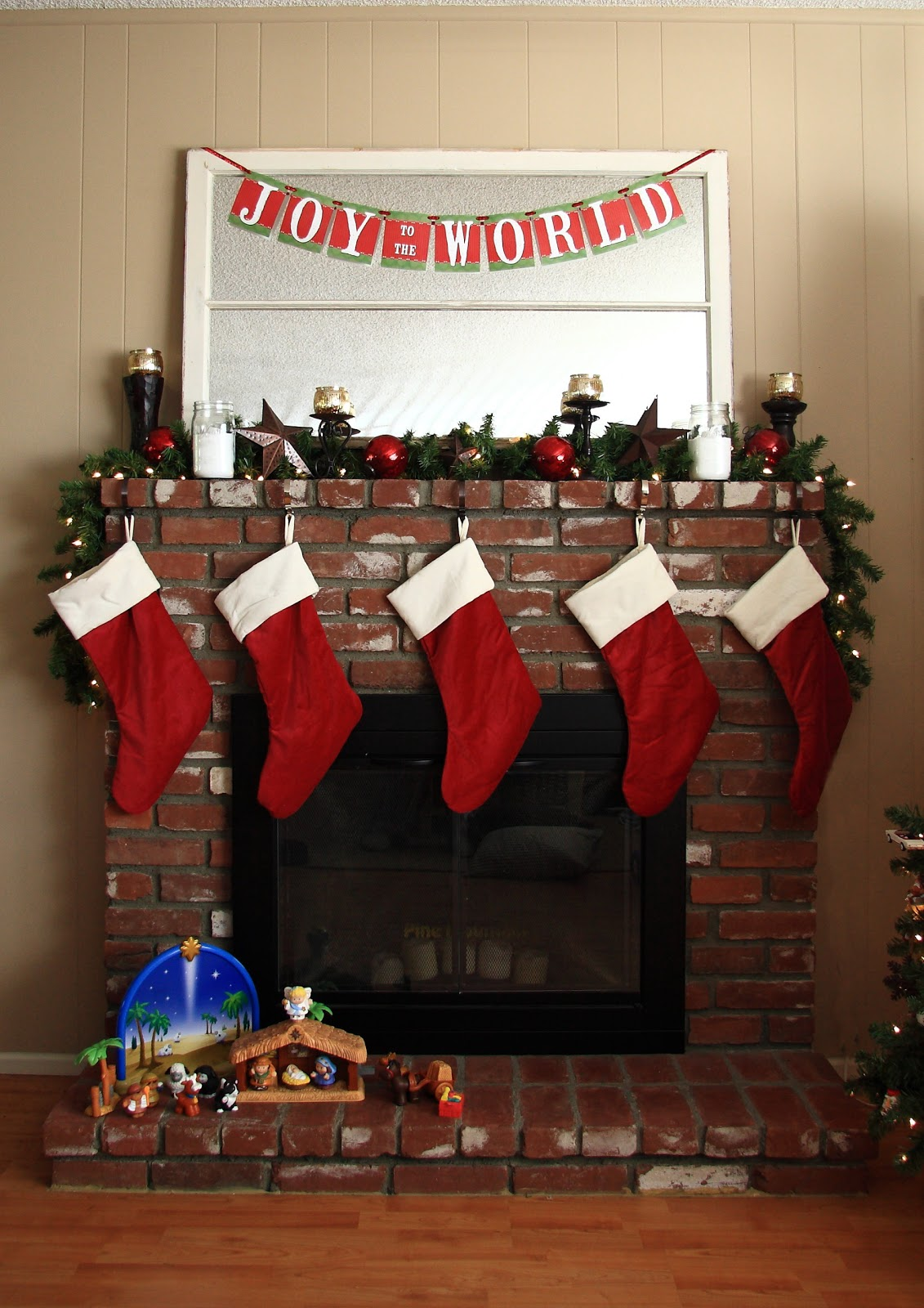 our christmas mantel - Beautiful Mantel Christmas Decorations