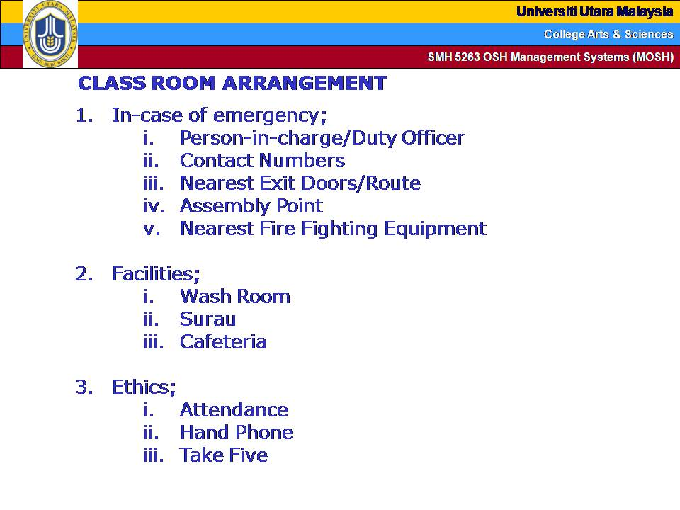 Z Arrangement Classroom Design Disadvantages : Osh the journey pembuka kata setiap majlis