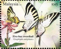 Butterflies Of Malaysia RM5 Five-bar Swordtail