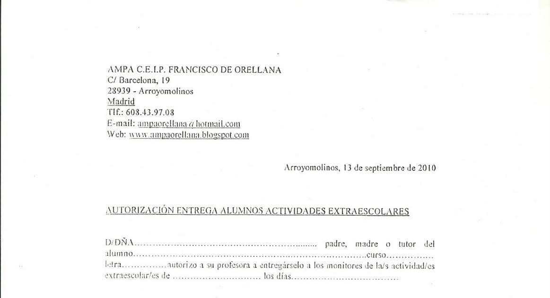Autorizacion recogida en correos