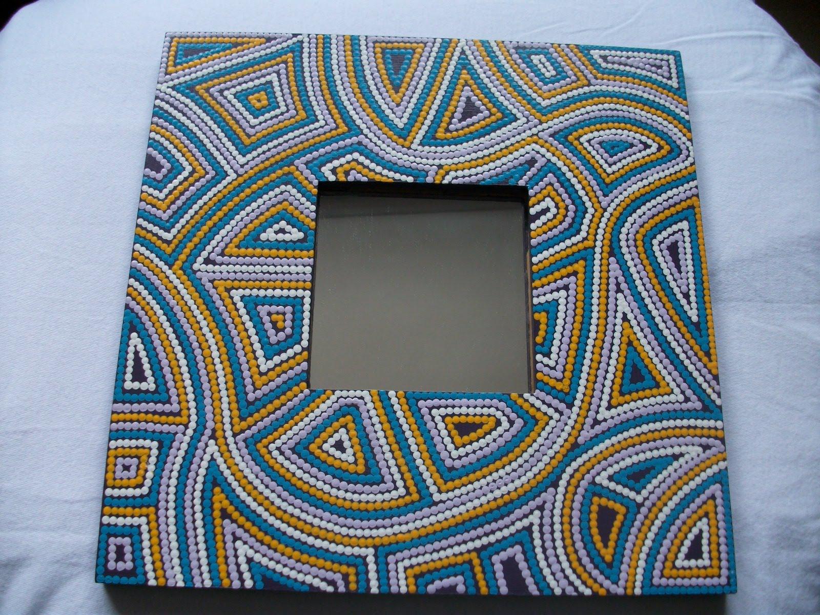 Regala marcos decorados de forma artesanal nuevos modelos for Marcos para espejos artesanales
