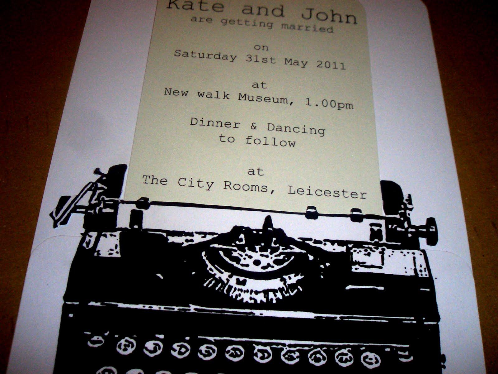 Golden Apple Designs: Typewriter Wedding Invitation