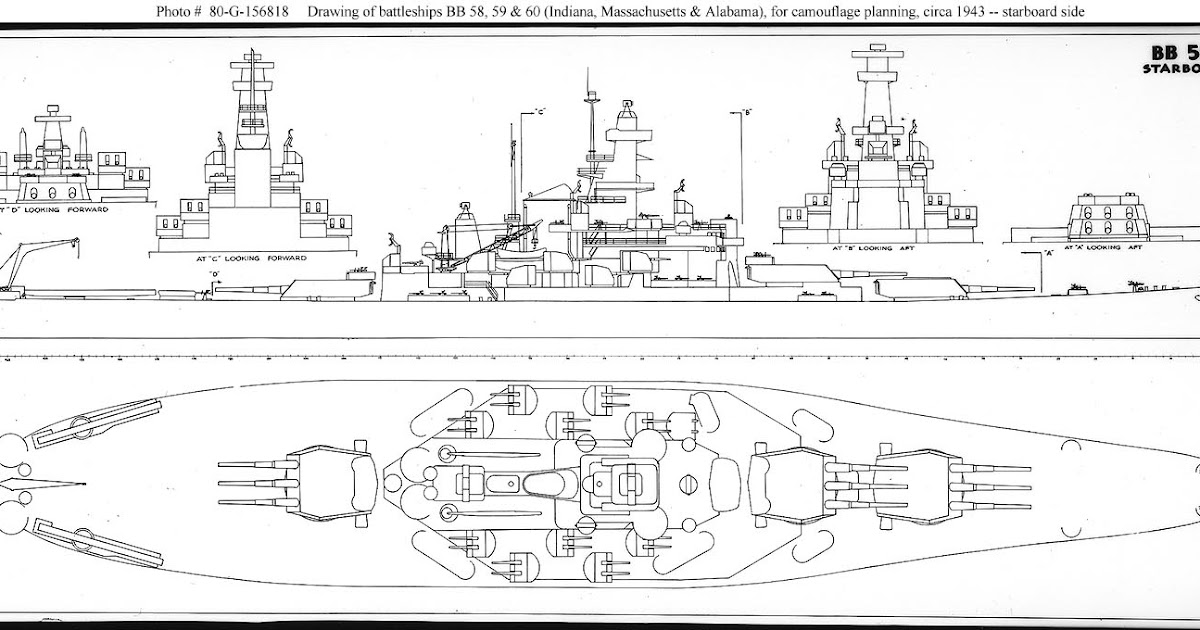 navy ship  uss alabama battleship blueprint