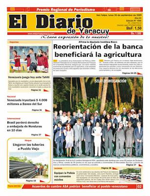 El Diario de Yaracuy (28 de Septiembre 2009)