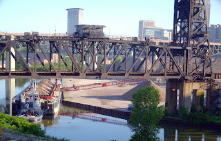 Barge Unloading on the Cuyahoga