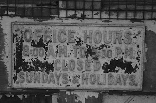 Monroe Cemetery - Office hours sign