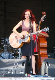 Patty Griffin playing on the Fais Do Do stage at JazzFest