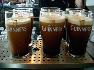 Guinness Pints at the Gravity Bar