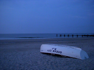 Lifeguard Boat on Ocean City Beach