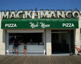 Mack and Manco Pizza on the Boardwalk