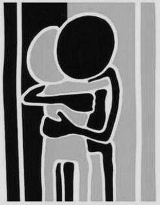 Abraçar é bom e eu adoro, mas hoje não estou afim.