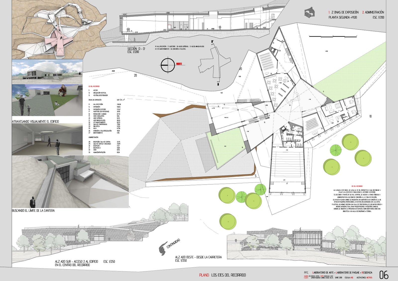 Proyectos 7 planos presentaci n pfc arquitectura - Planos de arquitectos ...