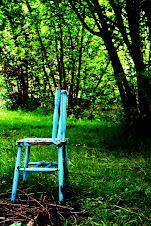 la silla azul