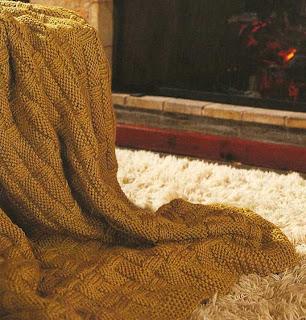 вязание объемный пледов Вязание