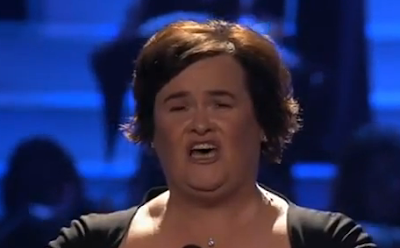 Susan Boyle first U.S performance singing her first single Wild Horses on Americas Got Talent 2009 Finale