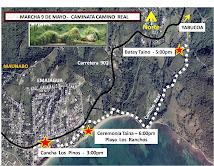 Mapa  Marcha Maunabo